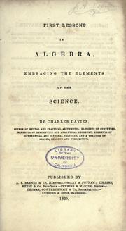 First lessons in algebra PDF