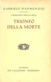 Trionfo della morte by Gabriele D&#39;Annunzio