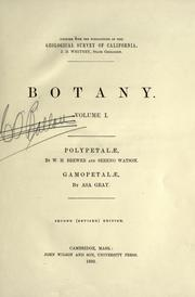 Botany by Geological Survey of California.