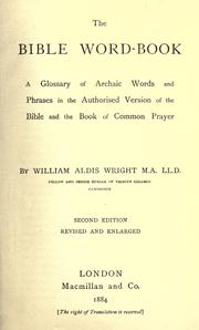 The Bible word-book by William Aldis Wright