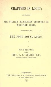 Chapters in logic by Hamilton, William Sir