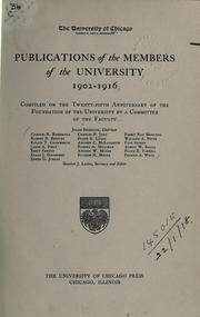 Publications of the members of the University, 1902-1916 PDF