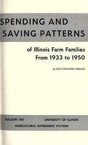 Spending and saving patterns of Illinois farm families from 1933 to 1950 PDF