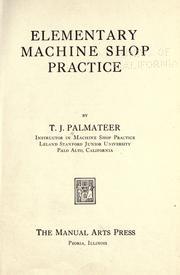 Elementary Machine Shop Practice PDF