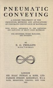 Pneumatic conveying by Ernest George Phillips