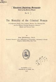 The mentality of the criminal woman PDF