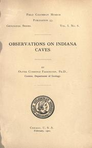 Observations on Indiana caves