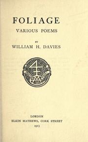 Foliage by W. H. Davies