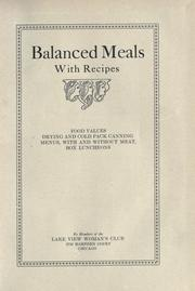 Balanced meals with recipes PDF