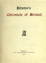 Adamss chronicle of Bristol.