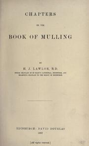 Chapters on the Book of Mulling by Hugh Jackson Lawlor