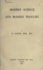 Modern science and modern thought PDF
