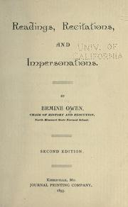 Readings, recitations, and impersonations by Ermine Owen