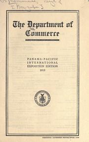 The Department of Commerce by United States. Dept. of Commerce.