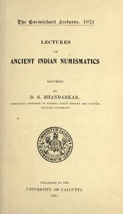 Lectures on ancient Indian numismatics by Bhandarkar, Devadatta Ramakrishna