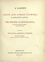A garden of grave and godlie flowers