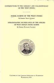 Fossil Echini of the West Indies by Jackson, Robert Tracy