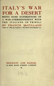Italy's war for a desert by Francis McCullagh