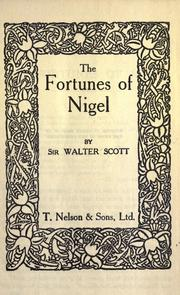 The fortunes of Nigel by Sir Walter Scott