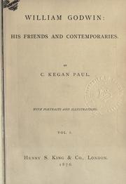 William Godwin by C. Kegan Paul