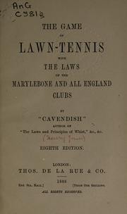 "Cover of: The game of lawn-tennis by ""Cavendish"" pseud."