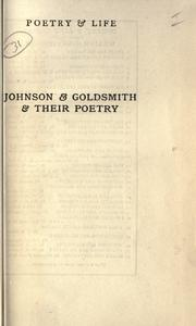 Johnson & Goldsmith & their poetry by William Henry Hudson