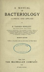 A manual of bacteriology, clinical and applied PDF