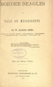 Cover of: Border beagles by William Gilmore Simms