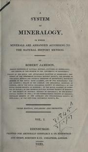 A system of mineralogy by Robert Jameson