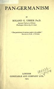 Pan-Germanism by Roland G. Usher