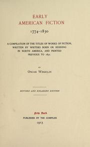 Early American fiction, 1774-1830 PDF