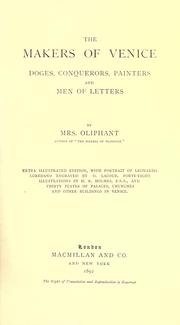 Cover of: The makers of Venice by Oliphant, Margaret Mrs.