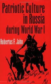Patriotic Culture in Russia During World War I PDF
