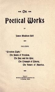 The poetical works of James Madison Bell PDF