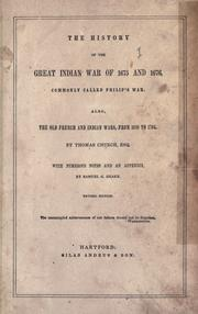 The history of the great Indian war of 1675 and 1676 by Benjamin Church