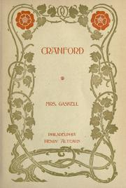 Cranford by Elizabeth Cleghorn Gaskell