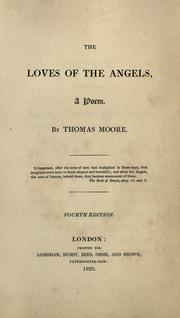 The loves of the angels by Moore, Thomas