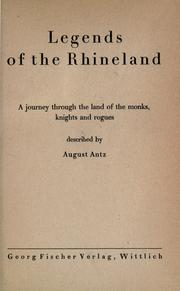 Legends of the Rhineland by August Antz