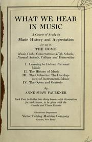 What we hear in music by Anne Faulkner Oberndorfer