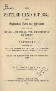 The Settled Land Act, 1882 PDF