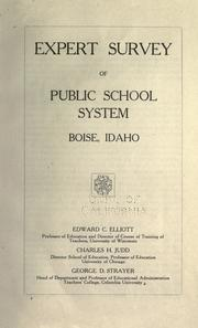 Expert survey of public school system, Boise, Idaho by Edward C. Elliott
