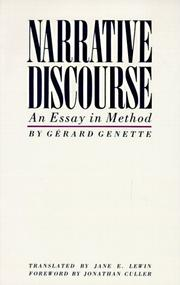 Narrative discourse by Grard Genette