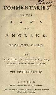 Commentaries on the laws of England.