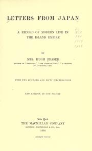 Letters from Japan by Fraser, Hugh Mrs.
