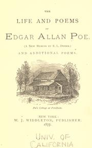 The life and poems of Edgar Allan Poe by Edgar Allan Poe