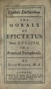 Epicteti Enchiridion by Epictetus