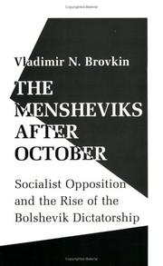The Mensheviks After October by Vladimir N. Brovkin