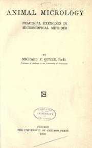 Animal micrology by Michael F. Guyer