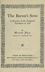 The baron&#39;s sons by Jkai, Mr