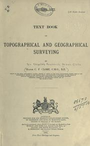 Textbook of topographical and geographical surveying by Charles Close